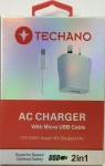 Techano AC Charger Cable Front New