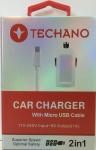 Techano Car Charger Cable Front New