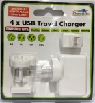 Travel x 4 USB Charger